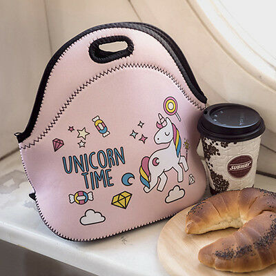 1Pcs Dessert Lunch Bag Women Kids Lunchbags Unicorn Thermal Insulated