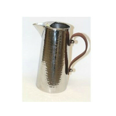 Hammered Water Jug with Leather Handle - Small