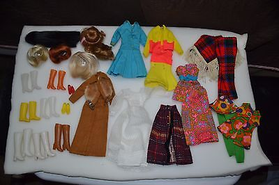 Mod Barbie TNT  Wig and Clothing Lot