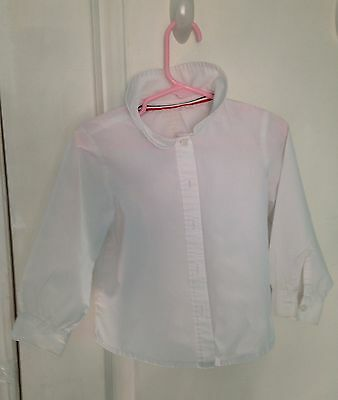 FRENCH TOAST LITTLE GIRLS' TODDLER L/S PETER PAN BLOUSE 4T White