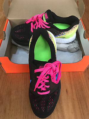 Nike Lunarglide 7 GS VII Black Volt Kids Youth Running Shoes Sneakers 747966-004