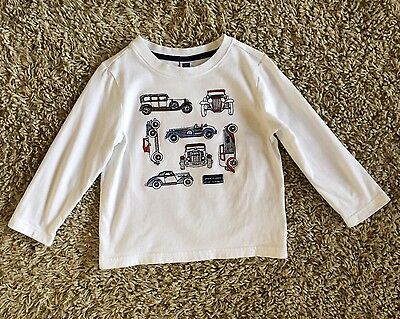 Janie And Jack Boys Classic Car Embroidered Shirt. 2T