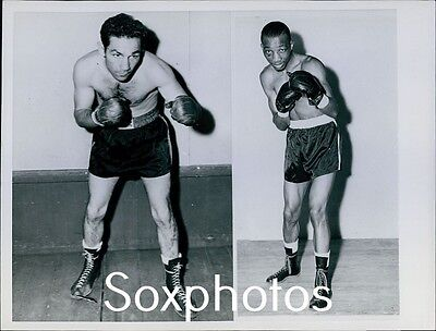 LD5 Vintage Great Rivalry Willie Pep Sandy Saddler Original Press Photo