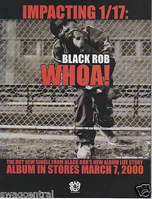 BLACK ROB Original Magazine Advertisement 8.5 X 11 RARE! WHOA!