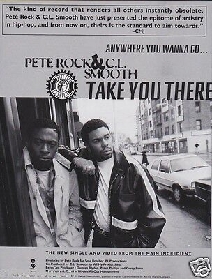 PETE ROCK & C.L. SMOOTH Original Magazine Advertisement 8.5x11 RARE! CLUB PLAYAZ