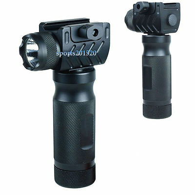 Tactical Foregrip Vertical Grip High Power CREE LED Flashlight Rail Mount Y31