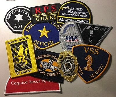 Lot Of 11 Mixed Security Police Department Patches
