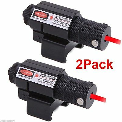 2Pcs Tactical mini Red Laser sight Picatinny Rail for Glock Ruger Rifle pistol 5