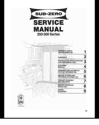 Repair Manual: Sub-zero REFRIGERATORS (choice of 1 manual, see below)