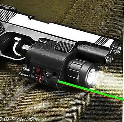 Tactical Combo Cree Led Flashlight Green Laser Sight + remote switch fit Glock 5
