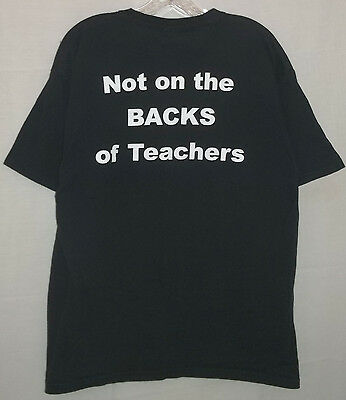 Excellence Cost$ Not On The BACKS Of Teachers Pro-Education Adult Large T-Shirt