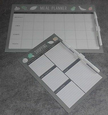 1 x MEAL PLANNER.& 1 x SHOPPING LIST PLANNER MAGNETIC with PEN and ClIP. ITEM 52