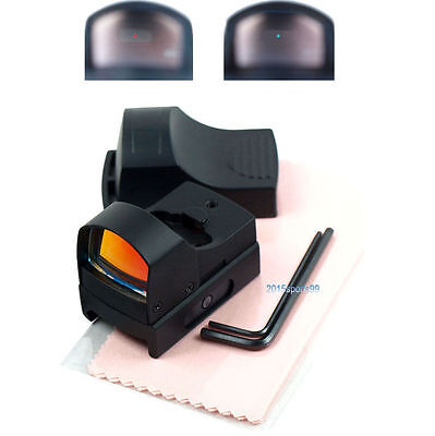 Hunting Micro Reflex Dual Red Green Dot Sight Scope with Picatinny Weaver Rail 3