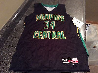 UnderArmour Memphis Central #34 Black Basketball Jersey Size 11 Brand New