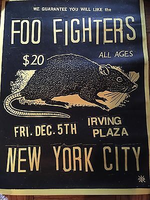 Foo Fighters Irving Plaza Poster Sonic Highways Nyc 12/5/2014 Dave Grohl Hawkins