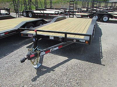 New Pj 22' Equipment Carhauler Trailer W/ Drive Over Fenders *on Sale Now* Dr Dr