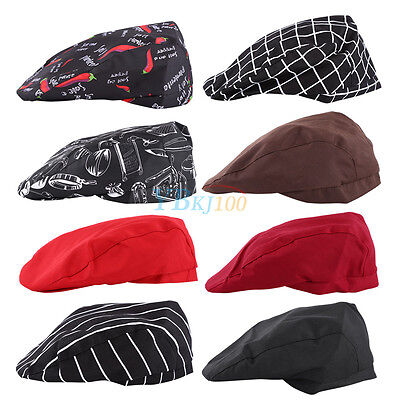 Comfortable Men Women Chef Hat Kitchen Cook Catering Baker Duckbill Beret Cap im
