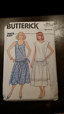 Vintage Butterick Ladies Dress Pattern 3813 Size 12-16 Free Shipping