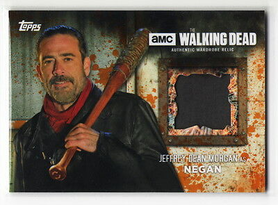 2017 TOPPS Walking Dead Season 6 Jeffrey Dean Morgan NEGAN Pants Relic Card /99