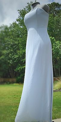 Carolina Blue Formal Maxi Dress Sz 12 Prom Pageant Gown Bridesmaid Chiffon Long