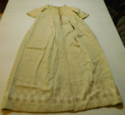 Antique Victorian Edwardian Hand-made Embroidered Wool Child's Baby Coat