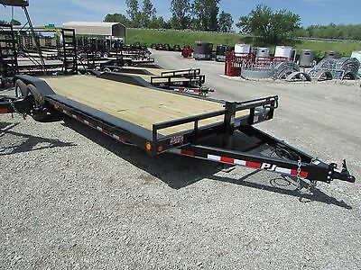 New Pj 24' Equipment Trailer W/ Drive Over Fenders *on Sale Now* Dr Trailer