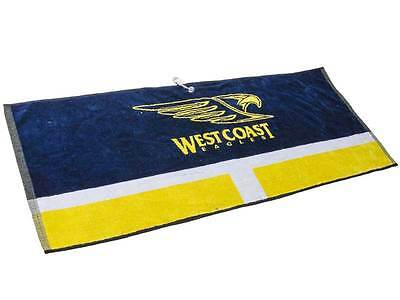 Official AFL West Coast Eagles Jacquard Golf Towel