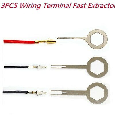 3PCS Car Auto Electrical Terminal Wiring Crimp connector Pin Removel Key Tool