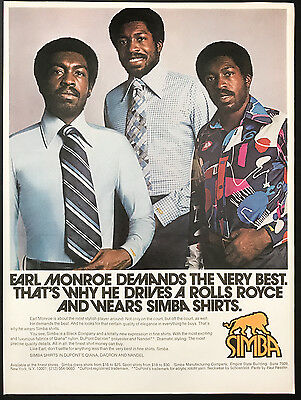 1973 Vintage Print Ad 1970s SIMBA Men's Fashion Style Earl Monroe Basketball