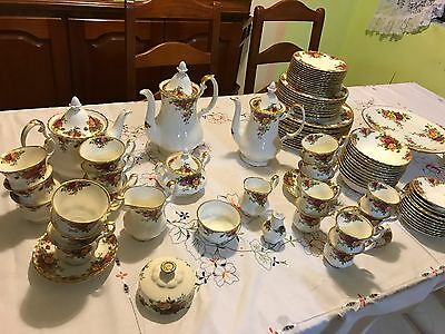 Royal Albert Old Country Rose Dinner, Tea & Coffee Set
