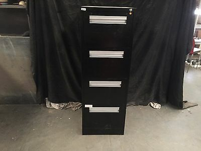 Work Solutions Black 4 Drawer Stand Up Office Filing Cabinet