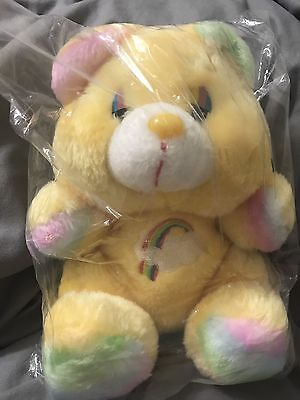 Vintage Rainbow Pastel Fairy Kei Care Bear Bootleg Knockoff Stuffed