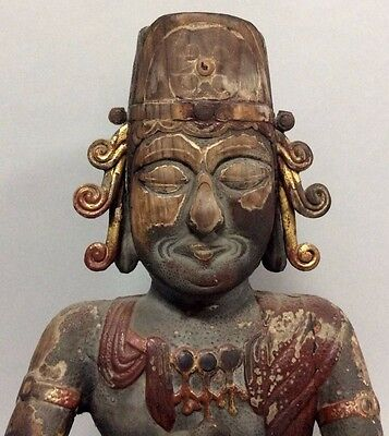 Museum-Quality, Antique, Japanese Wooden Sculpture-Statue of Buddha - Pre-1700s
