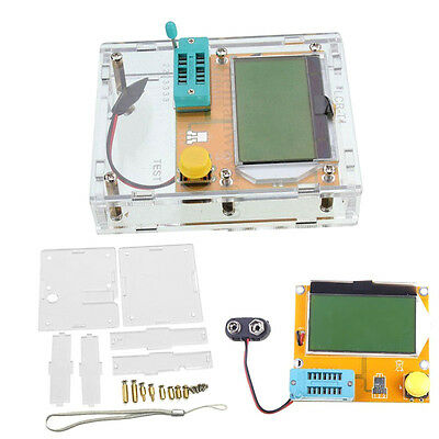 DIY Transparent Acrylic Case For Mega328 Digital Transistor Tester Meter
