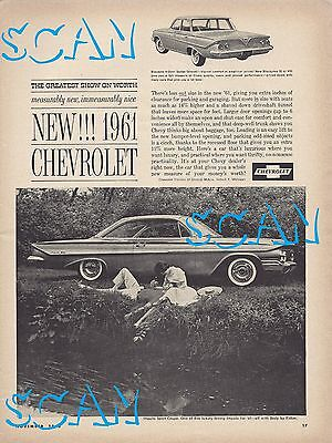 1961 Chevy Impala Biscayne Magazine Advertisement 8x11 Vintage Ad Chevrolet GM