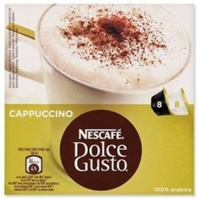 Nescafe Cappuccino for Nescafe Dolce Gusto Machine Ref 12019905 [Packed 48]