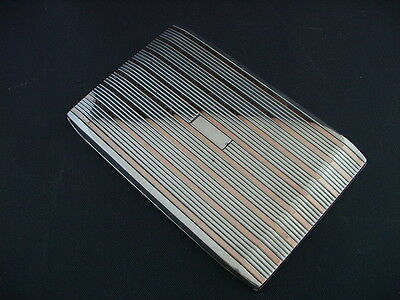 Sterling Silver And Pink Gold Cigarette Holder Beautiful Condition!!