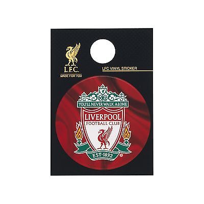 Liverpool Fc Official Full Colour Traditional Club Crest Vinyl Sticker Bnwt