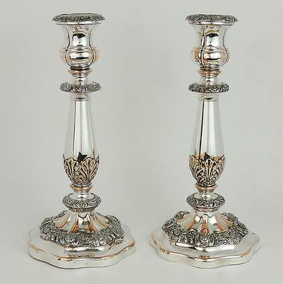 Beautiful PAIR WILLIAM IV OLD SHEFFIELD PLATE CANDLESTICKS c1830