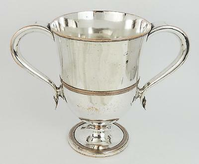 GEORGE III OLD SHEFFIELD PLATE LOVING CUP c1790 Lovely Heart Decoration Handles
