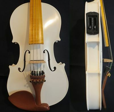 Guarneri style White colors electric & acoustic 5strings viola 16""