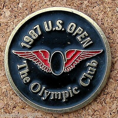 "Us Open 1987 Golf Design 1"" Coin Golf Ball Marker - The Olympic Club"