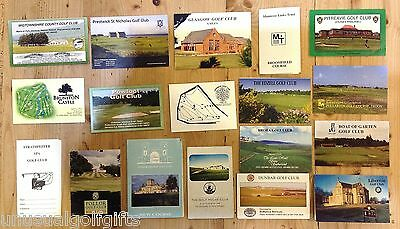 2nd OLD GOLF SCORE CARD COLLECTION SCOTTISH GOLF CLUBS 1990s SOME FAMOUS COURSES