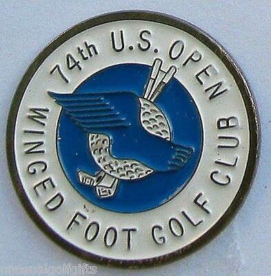 """Us Open 1974 Painted Golf Design 1"""" Coin Golf Ball Marker Winged Foot Golf Club"""