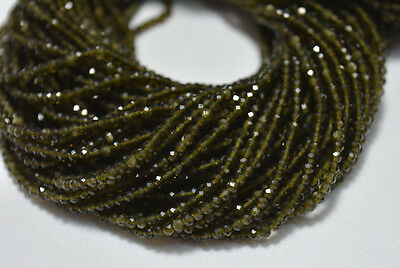 Cat's Eye Faceted Rondelle Gemstone Beads 2.40mm 12.5 Inches Strand