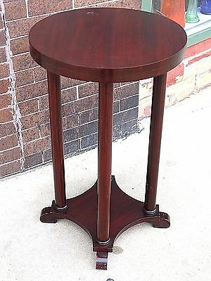 Empire Antique round mahoagany wood accent table pedestal stand