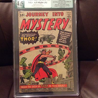 Journey Into Mystery #83 PGX Resored 4.5 Slight Color touch graded case like CGC