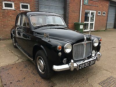 1962 ROVER P4 95 Saloon in black with tan leather interior
