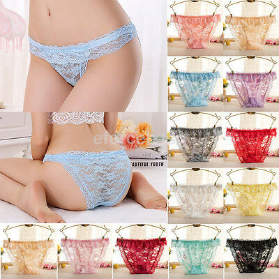 Fashion Women Lace Underwear Briefs Panties G-string Lingerie Low Waist Thongs