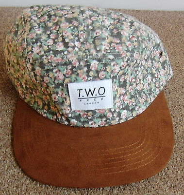 Limited Edition, TWO face London 5 panel cap,  floral , New RRP £35